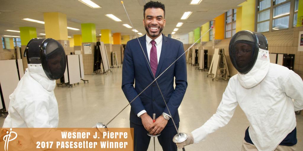VP of Education & Youth Development, Wesner J. Pierre; Winner of 2017 PASEsetter Award